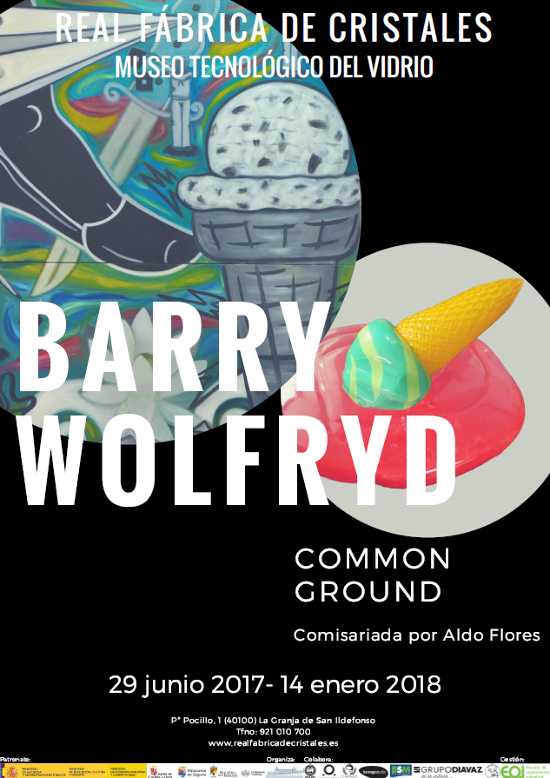 Affiche d'exposition Barry Wolfryd